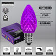 OptiCore C7 Commercial LED String Lights, Purple, 25 Lights, 25'