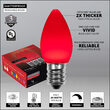 Smooth OptiCore C7 Commercial LED String Lights, Red, 25 Lights, 25'