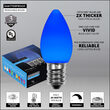 Smooth OptiCore C7 Commercial LED String Lights, Blue, 100 Lights, 100'