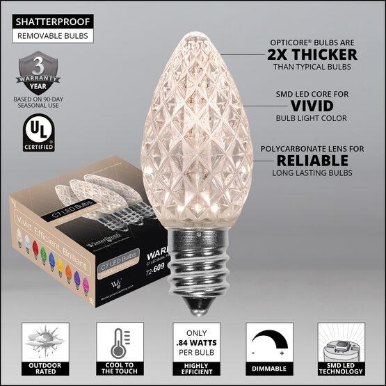 C7 OptiCore LED Light Bulbs, Warm White