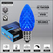 OptiCore C7 Commercial LED String Lights, Blue, 25 Lights, 25'