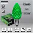 OptiCore C7 Commercial LED String Lights, Green, 25 Lights, 25'
