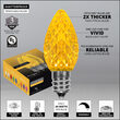 OptiCore C7 Commercial LED String Lights, Gold, 25 Lights, 25'