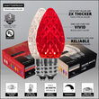 OptiCore C7 Commercial LED String Lights, Red / Warm White, 50 Lights, 50'