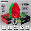 OptiCore C7 Commercial LED String Lights, Green / Red, 50 Lights, 50'