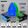 OptiCore C7 Commercial LED String Lights, Blue / Green, 50 Lights, 50'
