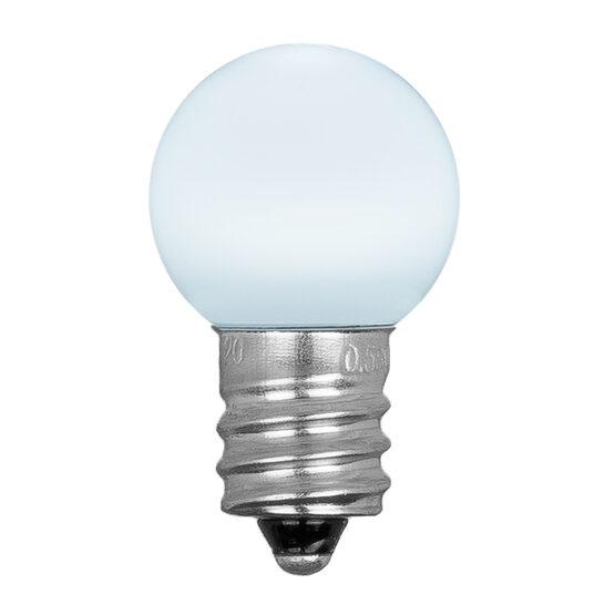 Mini G20 Smooth Globe LED Patio Light Bulb, Cool White