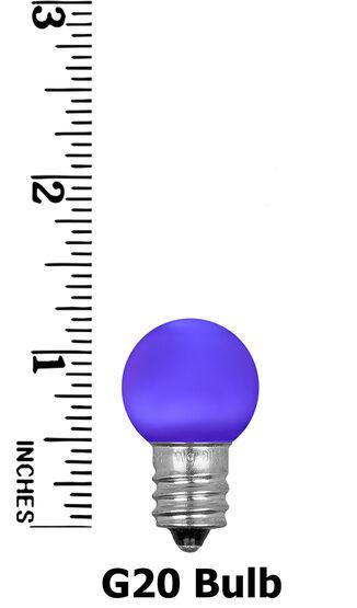 Mini G20 Smooth Globe LED Patio Light Bulb, Purple