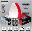 Smooth OptiCore C7 Commercial LED String Lights, Cool White / Red, 50 Lights, 50'