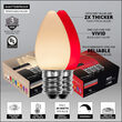 Smooth OptiCore C7 Commercial LED String Lights, Red / Warm White, 50 Lights, 50'