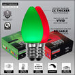 Smooth OptiCore C7 Commercial LED String Lights, Green / Red, 100 Lights, 100'