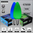 Smooth OptiCore C9 Commercial LED String Lights, Blue / Green, 50 Lights, 50'