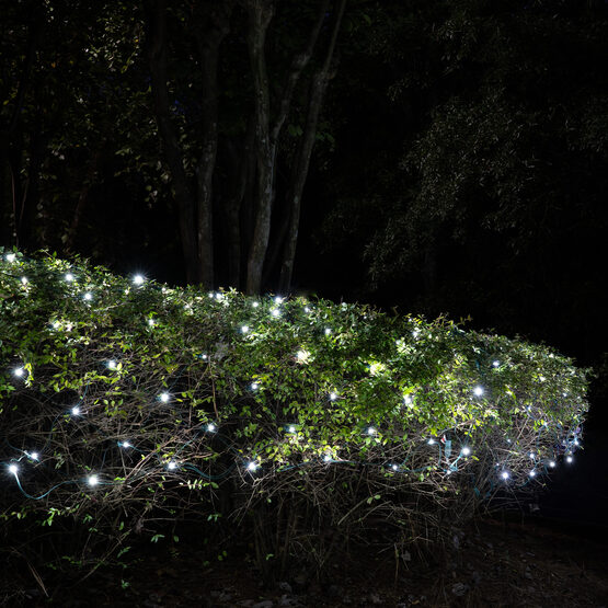 4' x 6' 5mm SoftTwinkle LED Net Lights, Cool White, Green Wire