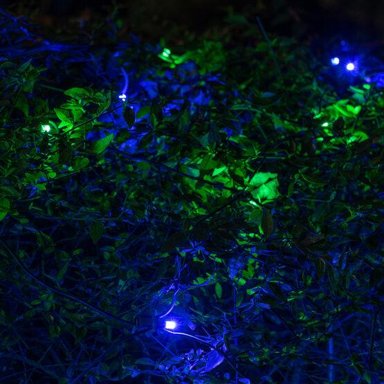 4' x 6' 5mm SoftTwinkle LED Net Lights, Blue, Green, Green Wire