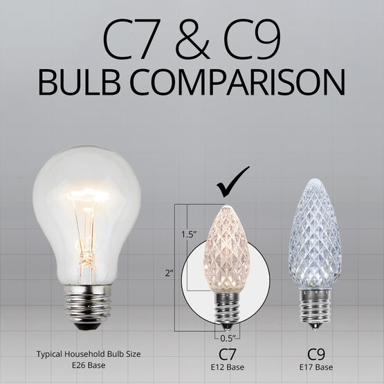 C7 LED Light Bulbs, Warm White, by Kringle Traditions TM