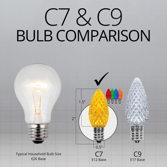 C7 OptiCore LED Light Bulbs, Multicolor Twinkle