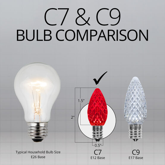 C7 LED Light Bulbs, Red, by Kringle Traditions TM