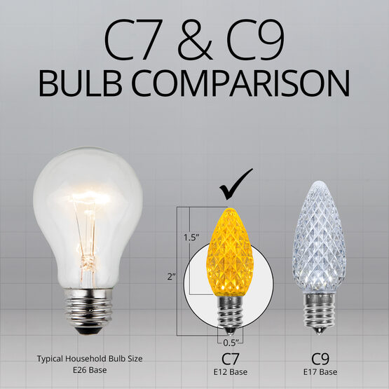 C7 LED Light Bulbs, Gold, by Kringle Traditions TM