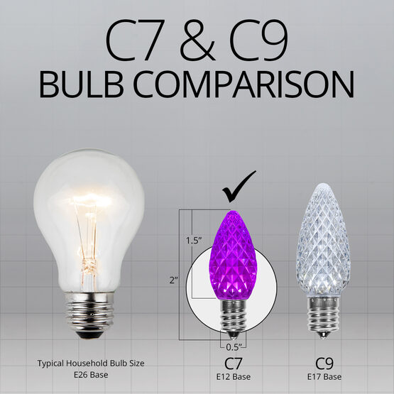 C7 LED Light Bulbs, Purple, by Kringle Traditions TM