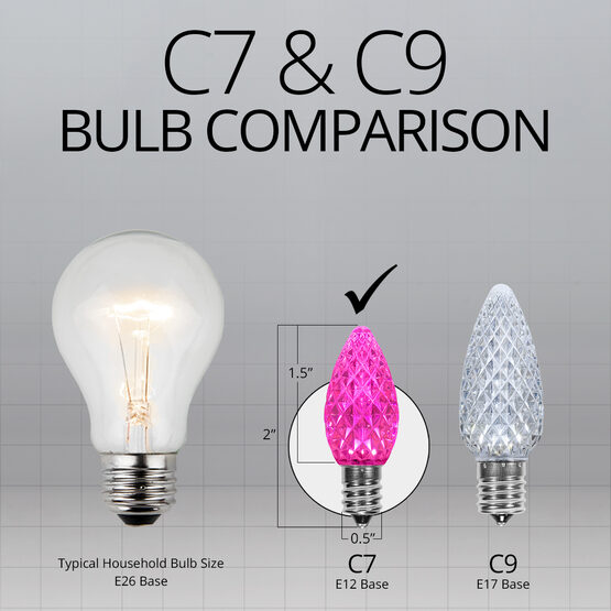 C7 OptiCore LED Light Bulbs, Pink