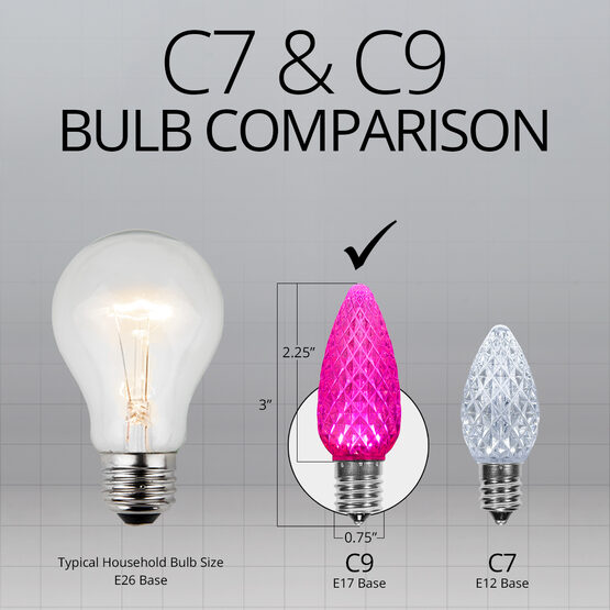 C9 OptiCore LED Light Bulbs, Pink