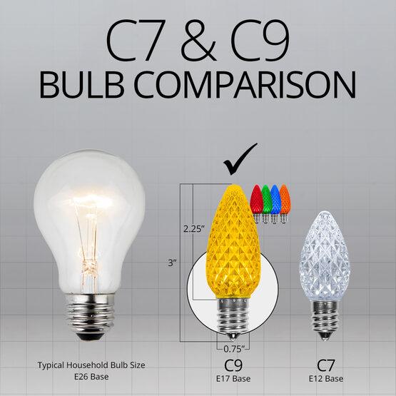 C9 OptiCore LED Light Bulbs, Multicolor