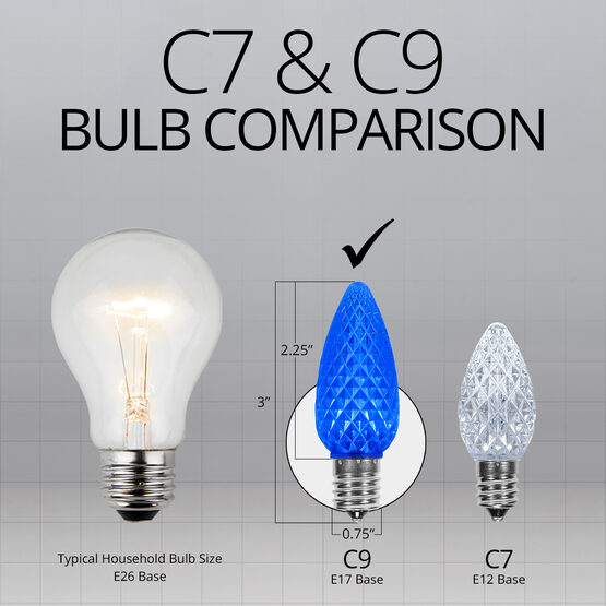 C9 OptiCore LED Light Bulbs, Blue