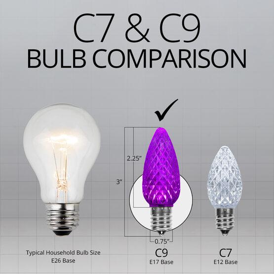 C9 LED Light Bulbs, Purple, by Kringle Traditions TM