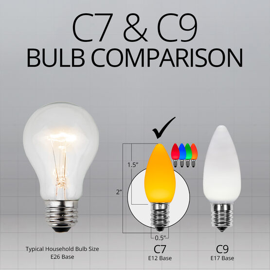 C7 Smooth OptiCore LED Light Bulbs, Multicolor Twinkle