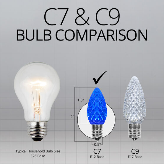 C7 OptiCore LED Light Bulbs, Blue