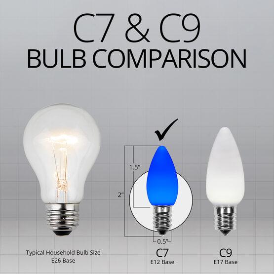 C7 Smooth OptiCore LED Light Bulbs, Blue