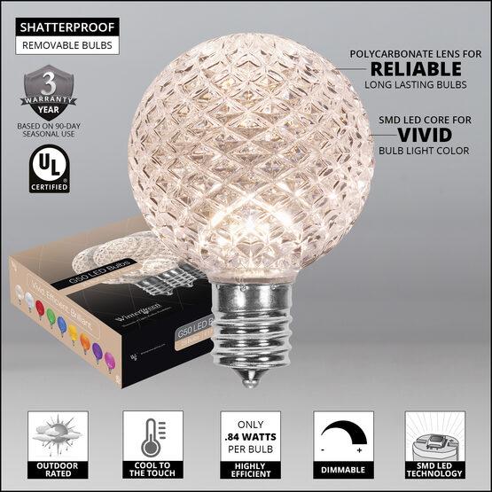G50 Globe OptiCore LED Patio Light Bulb Warm White