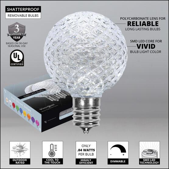 G50 Globe OptiCore LED Patio Light Bulb Cool White