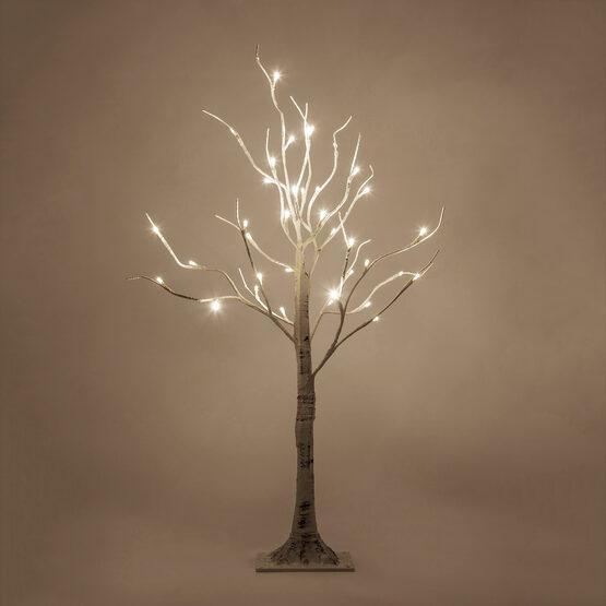 3' Warm White LED Birch Tree
