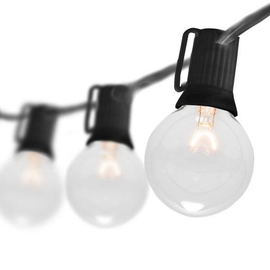 15' Globe String Lights, 15 Clear G50 Bulbs