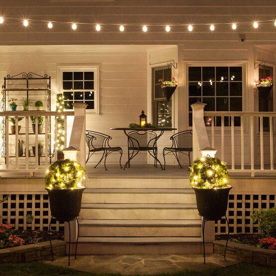 25' Globe String Light Set, 25 Warm White G50 OptiCore TM LED Bulbs