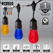 54' Outdoor Patio Light String, 24 Multicolor S14 LED Bulbs
