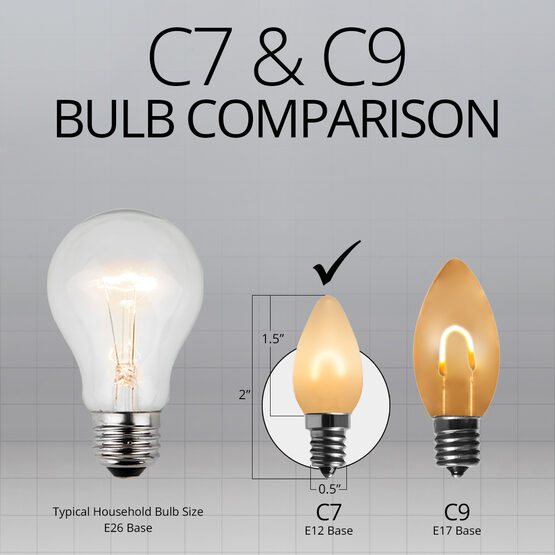 C7 FlexFilament Vintage LED Light Bulb, Warm White, Satin Glass
