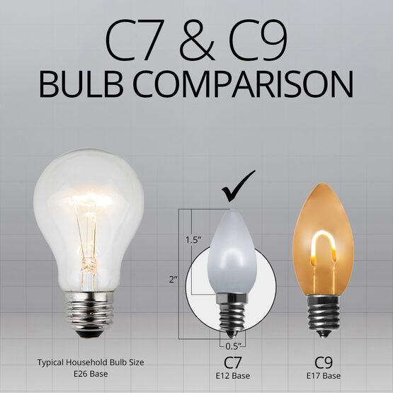 C7 FlexFilament Vintage LED Light Bulb, Cool White, Satin Glass