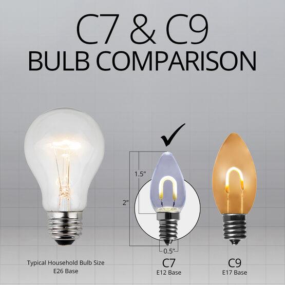 C7 Shatterproof FlexFilament Vintage LED Light Bulb, Cool White