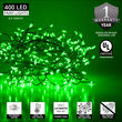 Green LED Outdoor Fairy String Lights, Green Wire