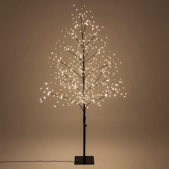 5' Black Fairy Light Tree, Warm White LED Lights