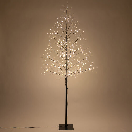 6' Black Fairy Light Tree, Warm White LED Lights