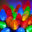 C7 Commercial LED String Lights, Multicolor, Green Wire