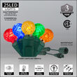 G12 Commercial LED String Lights, Multicolor, Green Wire