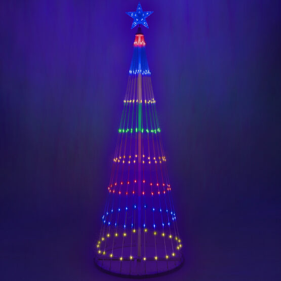 6' Multicolor LED Animated Outdoor Lightshow Tree