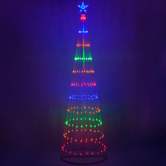9' Multicolor LED Animated Outdoor Lightshow Tree