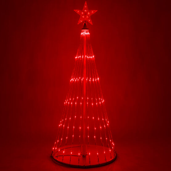 4' Red LED Animated Outdoor Lightshow Tree