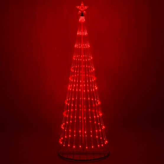 9' Red LED Animated Outdoor Lightshow Tree