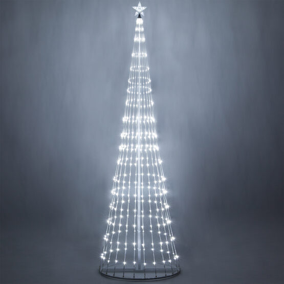 12' Cool White LED Animated Outdoor Lightshow Tree